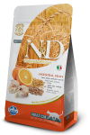 Farmina N&D Low Grain для взрослых кошек Codfish & Orange Adult