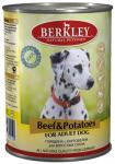 Berkley, консервы для собак с говядиной и картофелем, 400 гр.