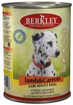 Berkley, консервы для собак с ягнёнком и морковью, 400 гр.