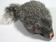 Triol Мышь 3'' серая, пушистая с погремушкой 7,5 см