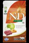 Farmina N&D беззерновой для взрослых кошек с олениной, тыквой, яблоком.