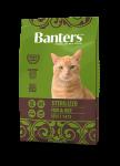 Banters Sterilized для стерилизованных кошек с рыбой и рисом